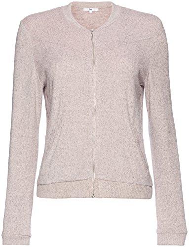 FIND Damen Sweatshirt Supersoft Bomber, Rosa (Pink Blush), Small