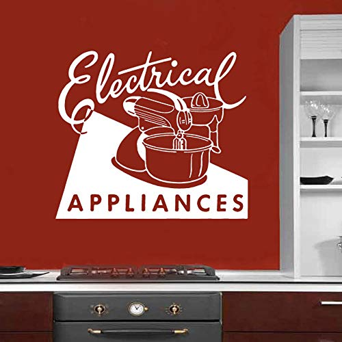 er Küche Kunst Vinyl Aufkleber Wanddekoration Elektrogeräte Retro Ad Mixer Restaurant Decor 65X57CM ()