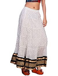Carrel Cotton Fabric Women Printed Long Skirt(AGSPL-3131-YJE-SK)