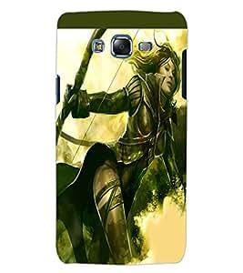 ColourCraft The Warrior Girl Design Back Case Cover for SAMSUNG GALAXY J5