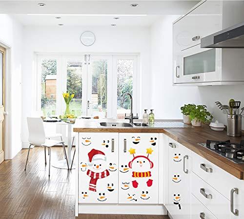 Sayala 2 Blatt 26 Stücke Weihnachtsdekoration - Lächeln & Schneemann - Weihnachten Kühlschrankmagnete, Weihnachten Aufkleber Schneemann Weihnachten für Wohnzimmer und Küchendekoration -