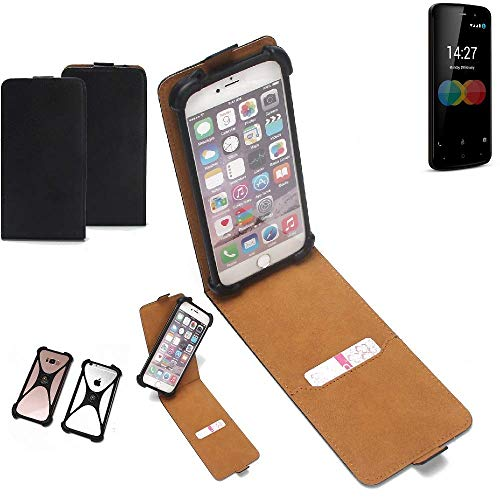 K-S-Trade Flipstyle Case für Allview P6 eMagic Schutzhülle Handy Schutz Hülle Tasche Handytasche Handyhülle + integrierter Bumper Kameraschutz, schwarz (1x)