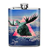 Fiaschette Presock, Antlers Sky 304 Food Grade Stainless Steel Flask 7 Oz Best Birthday Gift Present for Women Men