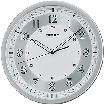 Seiko Wall Clock (31.1 cm x 31.1 cm x 3.9 cm, Silver, QXA628ST)