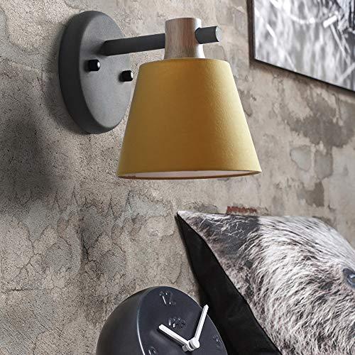 YHYGOO Innenwandleuchte, Leuchte Gelber Lampenschirm Geeignet für Esszimmer Wohnzimmer Schlafzimmer Arbeitszimmer Büro Cafe -