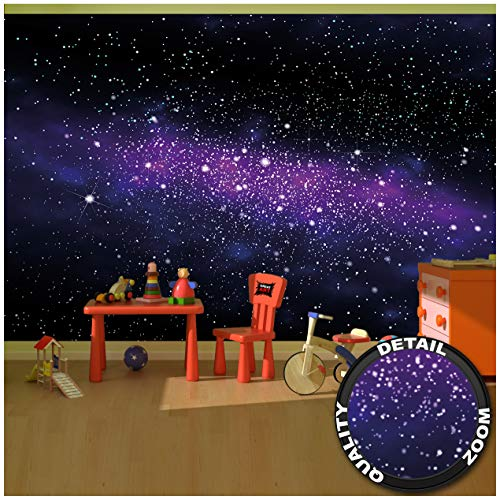 Great Art Fototapete - Weltall Sterne - Wandbild Dekoration Kinderzimmer Weltraum Stars Galaxy Sky Sternenhimmel Universum Space All Kosmos Wandtapete (336 x 238 cm)