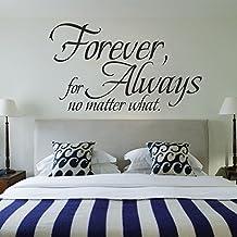 "mairgwall Familia Adhesivo de Forever para siempre No importa qué Home Living Skin dormitorio cabecero de cama adhesivo decorativo, vinilo, Customized-colors, 33""h x58""w"