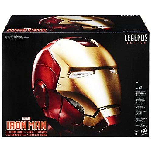 The Avengers Marvel Legends Full Scale Iron Man Electronic Helmet