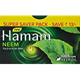 Hamam Neem Tulsi And Aloevera Soap Bar, 150g (Pack Of 3)