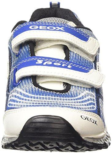 Geox Bernie B, Jungen Lauflernschuhe Sneakers Blau (White/Royal)