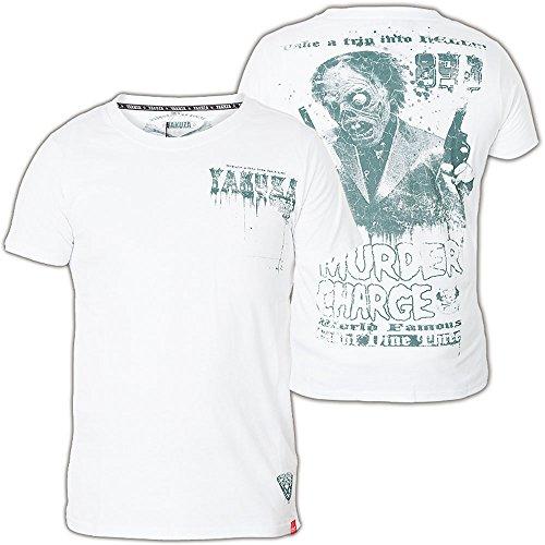 Yakuza T-Shirt TSB-408 Weiß Weiß