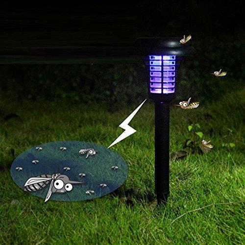 HomJo Luz de Paisaje al Lámpara de mosquito solar led Inserción de...
