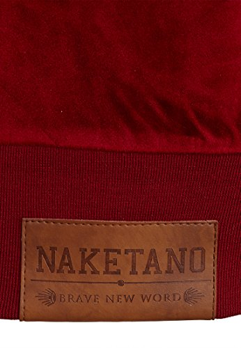 Naketano Male Zipped Jacket Ivic Mack IV Bordeaux