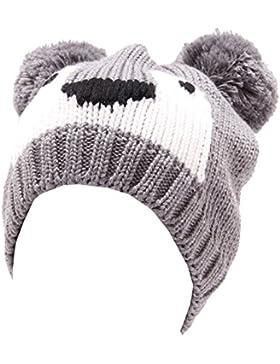 4305U cuffia bimbo unisex CATYA grigio lana hat wool kid [IV/43 CM]