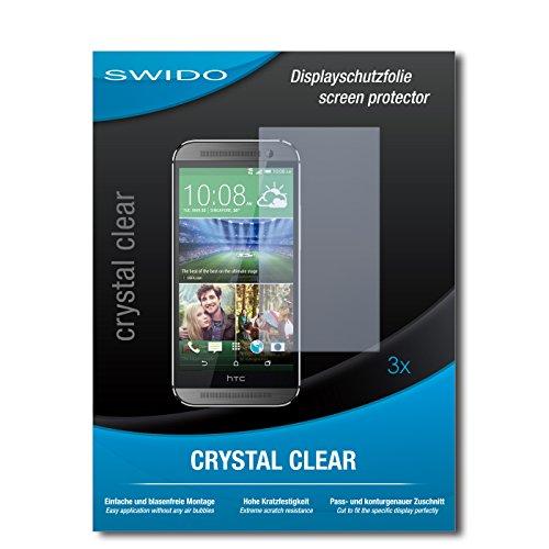SWIDO Bildschirmschutzfolie für HTC One M8s [3 Stück] Kristall-Klar, Extrem Kratzfest, Schutz vor Öl, Staub & Kratzer/Glasfolie, Bildschirmschutz, Schutzfolie, Panzerfolie
