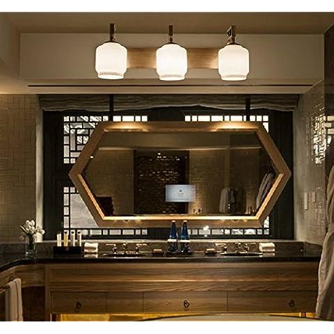 tydxsd neuen Stil chinesische Lichter Spiegel Bad Badezimmer Modern und einfach amerikanischen Continental Badezimmer Spiegel LED Lampe von Wand