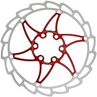 MagiDeal Rotor de Freno de Disco Acero Inoxidable 160 mm Bicicleta Montaña Deportes Aire Libre Ciclismo - rojo