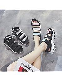 NGRDX&G Sandalias De Playa De Mujer Gruesa Sandalias De Mujer Zapatos De Mujer, Blanco, 35