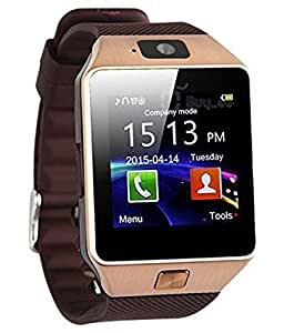 Samsung Galaxy S5 Neo compatible Bluetooth Smart Wrist Watch Phone With Camera & Sim Card(Gold Brown)