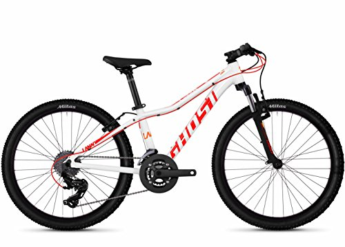 Ghost Lanao 2.4 AL W 24R Mädchen Mountain Bike 2019 (24 Zoll, Star White/Neon Red/Juice Orange)