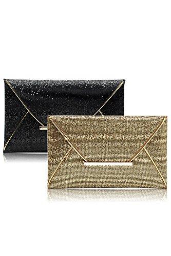 Vococal® Femmes Lady Shimmer Glitter Paillettes Sac Enveloppe Parti de Bal Du Soir Bourse D'Embrayage Sac à Main