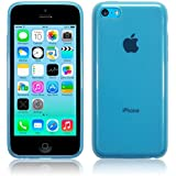 iPhone 5C Case, The Keep Talking Shop® Blue iPhone 5c Case Transparent Gel TPU Silicone Case Cover