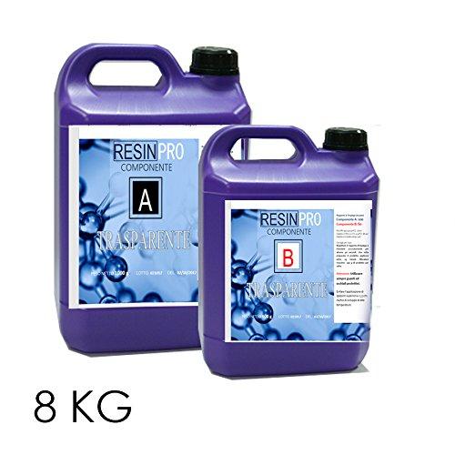 Resina epossidica trasparente/kg 8–Effetto acqua.