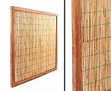Sichtschutzelement Schilfrohr geschält 120x120cm - Sichtschutzzäune Sichtschutzwand Gartensichtschutz Balkonsichtschutz Winschutz Sichtschutzwand für Garten und Terasse Blickschutz für Balkon Sichtschutzwände Sichtschutzwände
