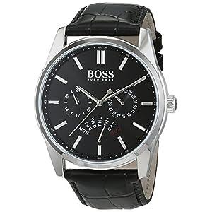 HUGO BOSS Men's Chronograph Quartz Watch with Leather Strap – 1513124