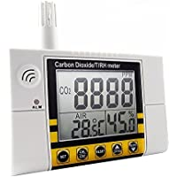 Emperatura De La Calidad Del Aire Interior RH 0~2000ppm Digital Wall Mount Dióxido De Carbono CO2 Monitor, Temperatura Y Sensor De Humedad Relativa