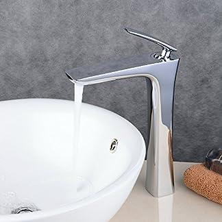 Beelee BL6609H-K Grifo del cuarto de baño Cromo Solo manija Grifo del fregadero del lavabo Grifo de un hoyo Estilo contemporáneo del hotel Estilo cuadrado