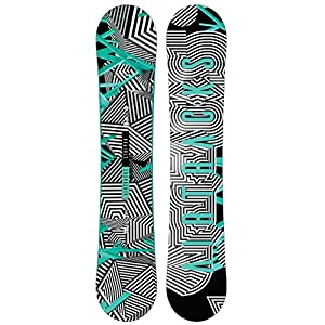 AIRTRACKS Stripes Snowboard Wide Flat Zero Rocker / All Mountain / Freestyle / 150 155 160 165 cm