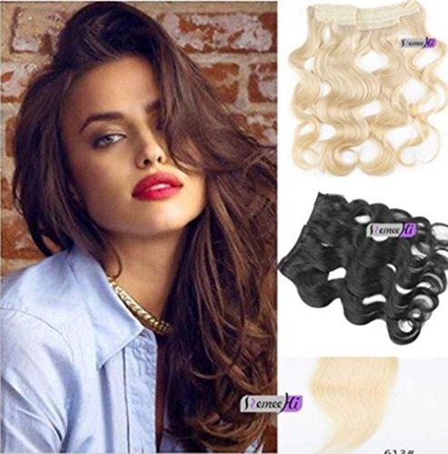 Remeehi 28cm larghezza easy wear veri capelli umani onda del corpo hidden halo extensions invisibile filo extensions 120g
