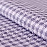 Hans-Textil-Shop Stoff Meterware, Vichy Karo 5x5 mm, Grau