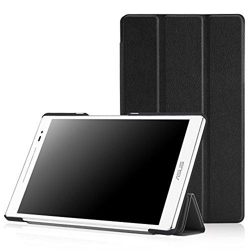 MoKo ASUS ZenPad 8.0 Z380C Hülle - Ultra Slim PU Leder Tasche Schutzhülle Schale Smart Case mit Auto Sleep/Wake up Funktion und Standfunktion für ASUS ZenPad 8.0 Z380KL/Z380C 8 Zoll Tablet-PC, Schwarz