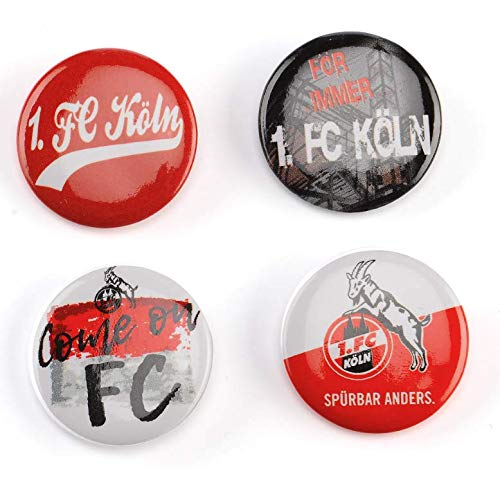 1. FC Köln Anstecker/Buttons ** Come on FC ** 4er-Set