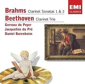 """Brahms : Sonates pour clarinette et piano n° 1 et n° 2 op. 120 - Beethoven : Trio pour clarinette, violoncelle et piano en si bémol majeur op. 11 """"Gassenhauer"""" [Import anglais]"""