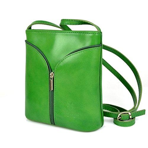 db6cbc852530f ... Vera Pelle Handtaschen Italien Echt Leder Schultertasche Frauen Damen  Tasche Handtasche Ital Bag Grün ...