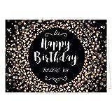 PERSONALISIERTE Geburtstagskarte XXL - Happy Birthday Konfetti modern - Übergroße Klappkarte zum Geburtstag mit Ihrem Text, anpassbar