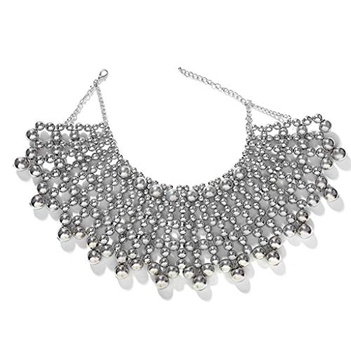 Description:  Features: 100% brand new and high quality This outstanding statement choker style is beautifully made with imitation pearl which can cover your whole shoulder. The imitation pearls are with high luster and smooth surface, exquisite craf...