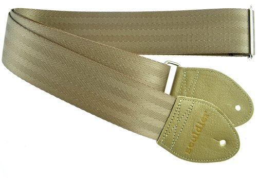 Souldier Custom Recycled Sicherheitsgurt für Akustikgitarre taupe (Acoustic Souldier Guitar Strap)