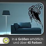 Schädel Dichter Wandtattoo in 6 Größen - Wandaufkleber Wall Sticker