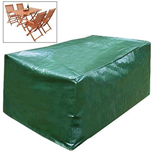 Woltu gz1170 funda lona cubierta Muebles de Jardín Lona Funda Protectora Impermeable Verde para asiento Grupo 122 x 112 x 98 cm