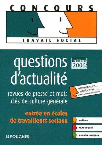Questions d'actualité : Revues de presse et mots-clés de culture générale