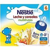 NESTLÉ Leche y Cereales Multifrutas - Paquete de 6 x 2 unidades de 250 ml