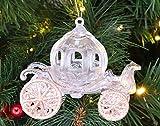 Christmas Concepts Decorazione per Carrozza Principessa Decorata con Glitter da 10 cm (Oro Rosa, Pacchetto di 1)