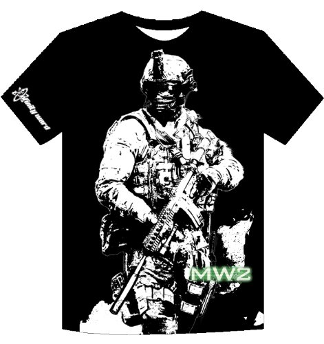 Call-of-Duty-Modern-Warfare-2-T-Shirt-Soldier-Black-M