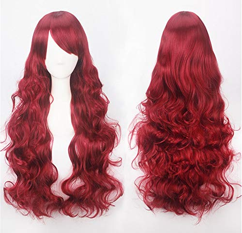 HotDoll Ladies Wig Curly Women's Long Hair for Mardi Gras or Cosplay Party