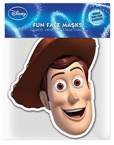 Toy Story Woody - Papp Maske, aus hochwertigem Glanzkarton mit Augenlöchern, Gummiband - Grösse ca. 30x20 ()