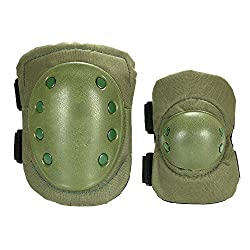 Knee Pads,lixada 2pcs Tactical Protective Pad Set With Adjustable Knee Pads & Elbow Pads For Child Roller Skateboard Paintball Skating